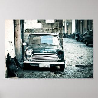 Brittisk kortkort för klassiker i Rome Poster