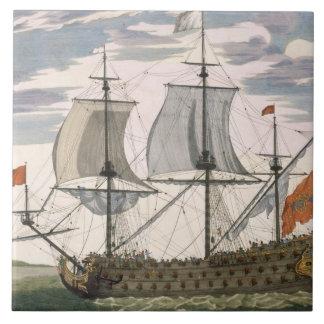 Brittisk marin: en förstklassig frakt som flyger v kakelplatta