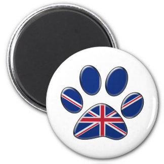 Brittisk patriotisk katt magnet