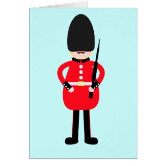 Brittisk soldat hälsningskort