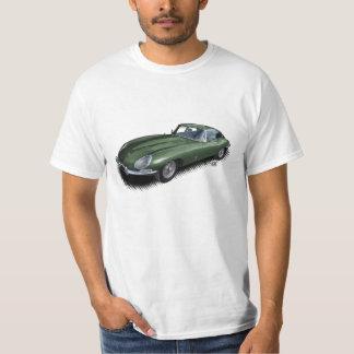 Brittisk T-tröja för sportbil för tävlagröntjaguar Tee Shirts