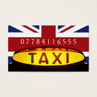 Brittisk taxifirma visitkort