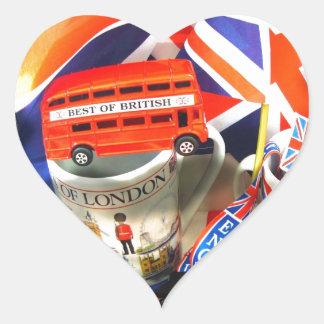 Brittisk turism hjärtformat klistermärke