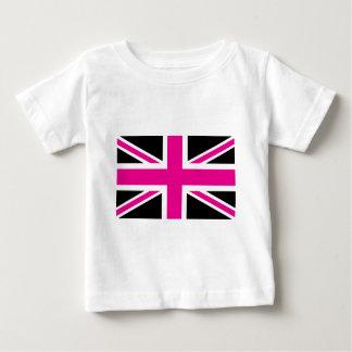 Brittisk (UK) flagga för svart och rosa jack för T-shirt