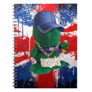 Brittiska flaggagrafitti Fonty Antecknings Bok