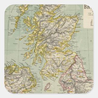 Brittiska Isles 11 Fyrkantigt Klistermärke