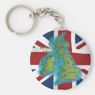 Brittiska Isles Rund Nyckelring