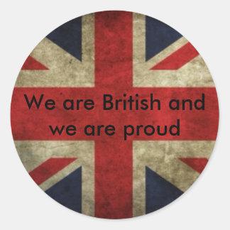 Brittiska klistermärkear runt klistermärke