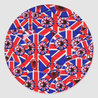 brittiska smileys runt klistermärke