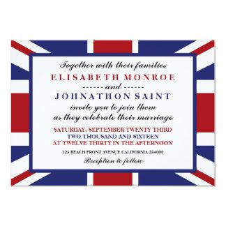 Brittiskt bröllop för facklig jackflagga 12,7 x 17,8 cm inbjudningskort
