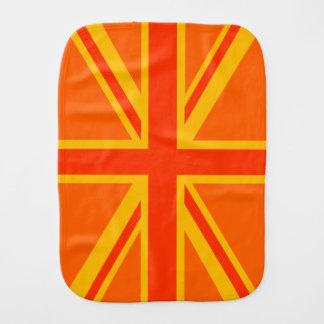 Brittiskt flaggabylte för lycklig orange facklig bebistrasa