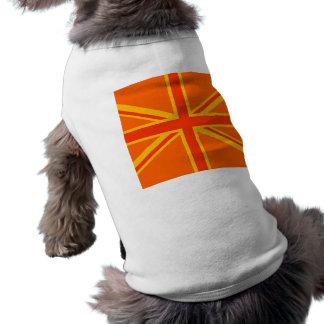 Brittiskt flaggabylte för lycklig orange facklig hundtröja