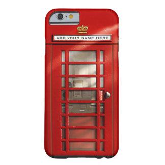 Brittiskt rött ringer boxas personlig barely there iPhone 6 fodral