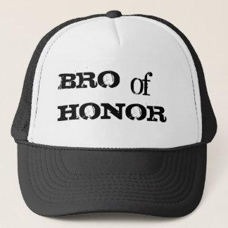Bro av hatten för svart för hederhumorgroomsman truckerkeps