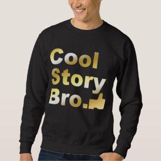 Bro för kall berättelse guld- tum upp lång ärmad tröja