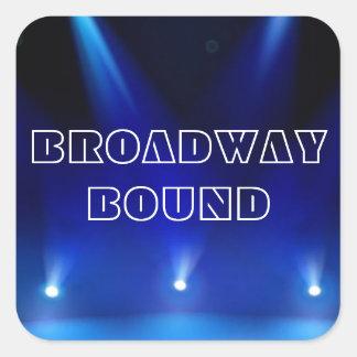 Broadway destinerad klistermärke
