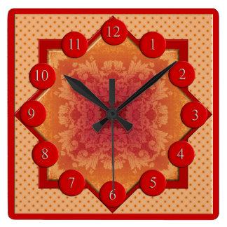 Brocadestjärnan kvadrerar tar tid på fyrkantig klocka