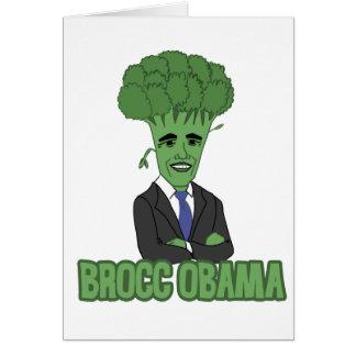 Brocc Obama Hälsningskort