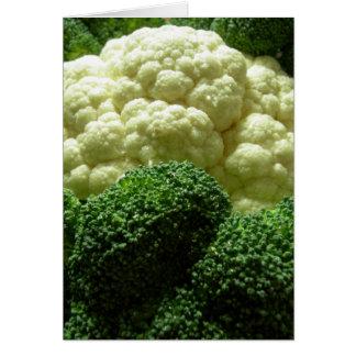 Broccoli & blomkål hälsningskort