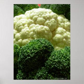 Broccoli & blomkål poster