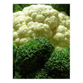 Broccoli & blomkål vykort