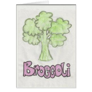 broccoli, genom att föreställa victoria hälsningskort