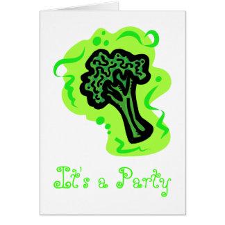 Broccoli Hälsningskort