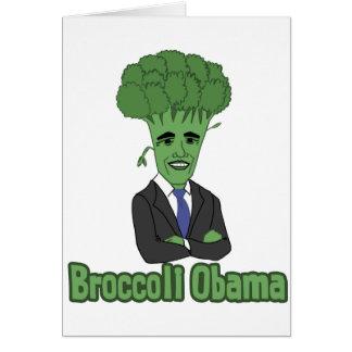 Broccoli Obama Hälsningskort