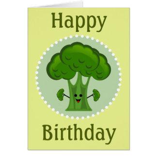 Broccoligrattis på födelsedagen hälsningskort