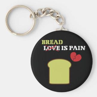 Bröd är smärtar rund nyckelring
