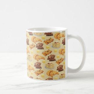 Bröd- och pannkakamönster kaffemugg