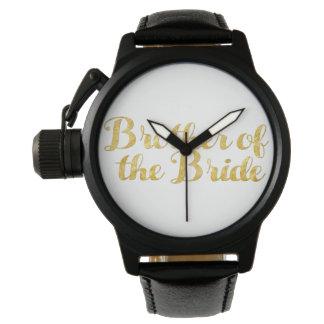 Broder av brudguldet armbandsur