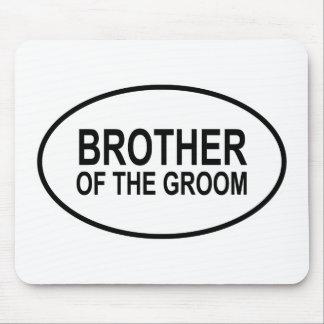 Broder av brudgummen som gifta sig Oval Mus Mattor