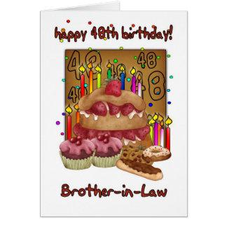 Broder i det 48th födelsedagkortet för lag - hälsningskort