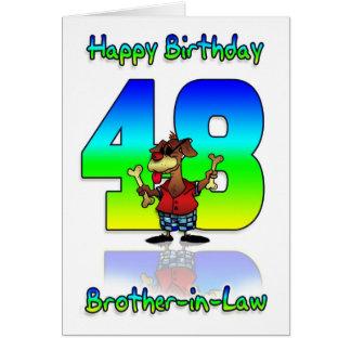 Broder i det 48th födelsedagkortet för lag - hund hälsningskort