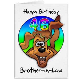 Broder i det 48th födelsedagkortet för lag - teckn kort