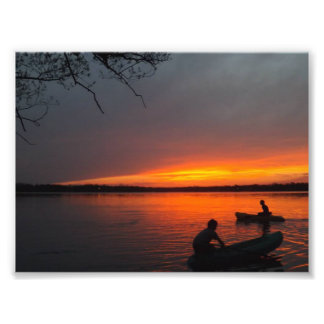 Bröder som Kayaking Fototryck