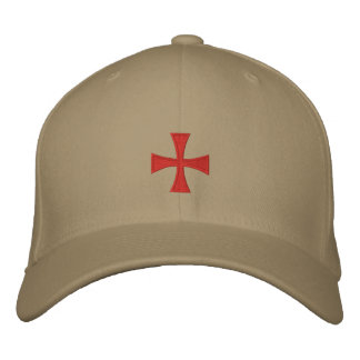 Broderad arg hatt för riddare Templar Broderad Keps