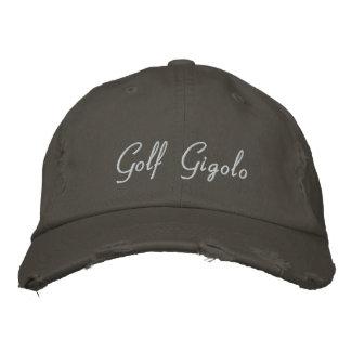 Broderad baseballmössa för Golf Gigolo rolig hatt
