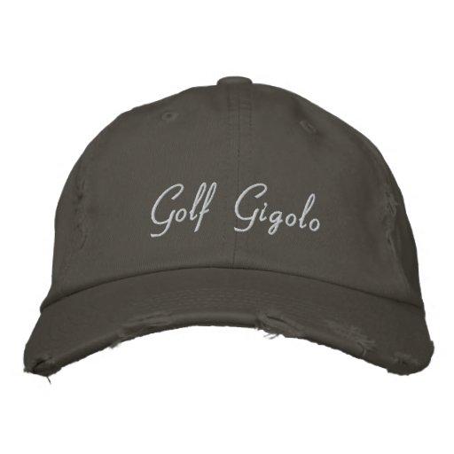 Broderad baseballmössa för Golf Gigolo/rolig hatt