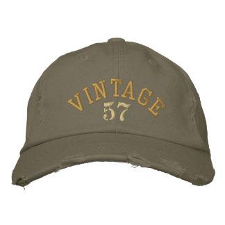 Broderad baseballmössa för vintage år keps