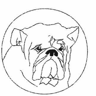 Broderad bulldoggPoloskjorta Broderade Polo Tröjor