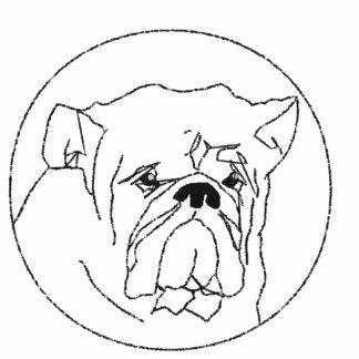 Broderad bulldoggT-tröja