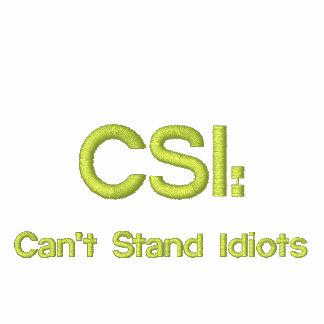 Broderad CSI: Kan inte stå idioter Broderad Hoodie
