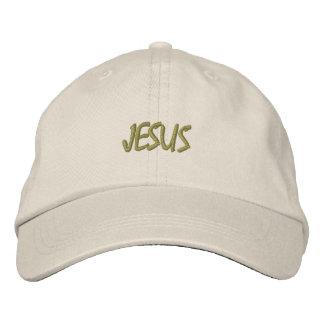 BRODERAD DESIGN JESUS FÖR HATTAR ANPASSNINGSBAR BRODERAD KEPS