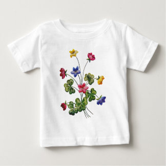 Broderad färgrik Wood Sorrel T-shirts