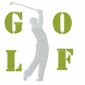 Broderad Golf spårar jackan Jacka