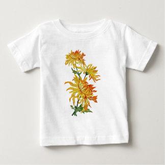 Broderad guld- kinesisk Chrysanthemum Tee Shirts
