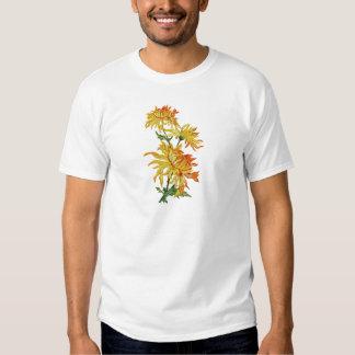 Broderad guld- kinesisk Chrysanthemum Tröjor