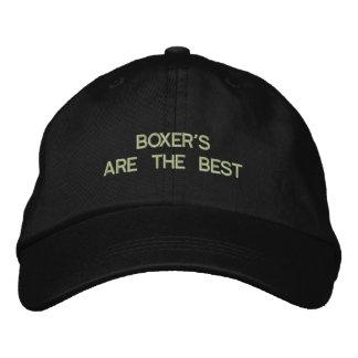 Broderad hatt för boxare hund